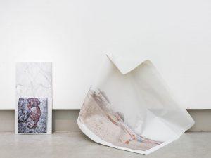 Beach & Beach 2018 Mexican white marble, c-print & inkjet print