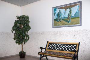 (untitled) Tree, Bench & Painting30x20cmInkjet print, Framed